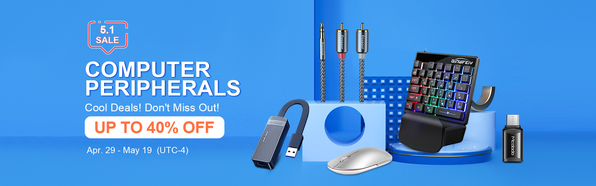 Up to 60% off Computer Peripherals