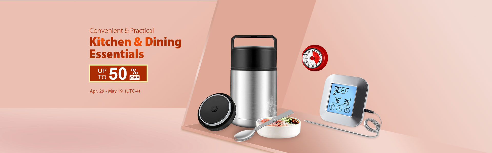Up to 50% off on Kitchen & Dining Essentials